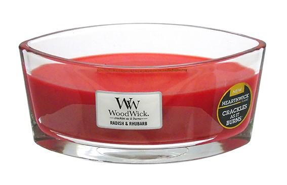 Woodwick-Hearthwick-Bocal-Verre-Ovale-Bateau-Bougie-Craquele-Bois-Couvercle