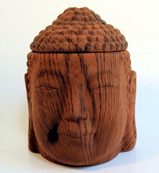 scentchips keramik wachs schmelze w rmer buddha kopf dunkles holz tartan granula ebay. Black Bedroom Furniture Sets. Home Design Ideas
