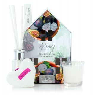 Artistry Collection House Scented Votive Heart Candle & Diffuser Gift Sets Sundrenched Fig