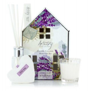Artistry Collection House Scented Votive Heart Candle & Diffuser Gift Sets Country Lavender