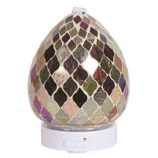 Aroma Mosaic LED Ultrasonic Electric Oil Diffuser Aromatherapy Copper & Gold