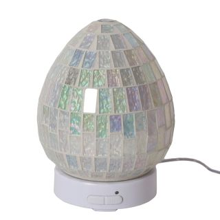 Aroma Mosaic LED Ultrasonic Electric Oil Diffuser Aromatherapy Ice White