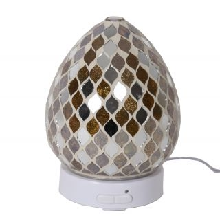 Aroma Mosaic LED Ultrasonic Electric Oil Diffuser Aromatherapy Gold Mirror