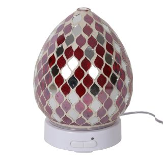 Aroma Mosaic LED Ultrasonic Electric Oil Diffuser Aromatherapy Red Mirror