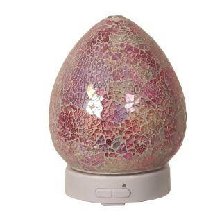 Aroma Mosaic LED Ultrasonic Electric Oil Diffuser Aromatherapy Pink Crackle