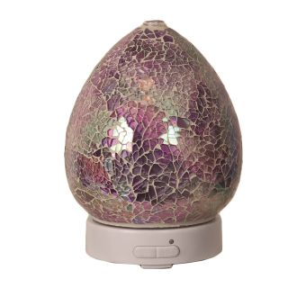 Aroma Mosaic LED Ultrasonic Electric Oil Diffuser Aromatherapy Purple Crackle