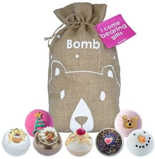 Bomb Cosmetics I Come Bearing Gifts Bath Blaster Hessian Christmas Gift Pack Set