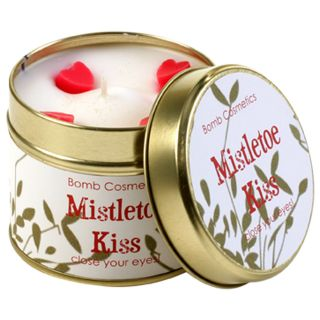 Bomb Cosmetic Tinned Christmas Scented Candle Mistletoe Kiss