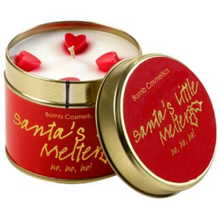 Bomb Cosmetic Tinned Christmas Scented Candle Santa's Little Melter