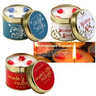 Bomb Cosmetic Tinned Christmas Scented Candle Made in UK