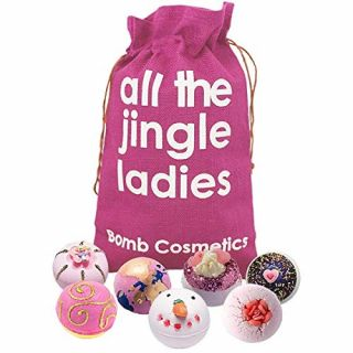 Bomb Cosmetics No Peaking Until 25th Dec Bath Blaster Hessian Christmas Gift Pack Set