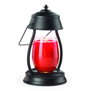 Candle Warmers Hurricane Lantern Lamp Metallic Collection Black