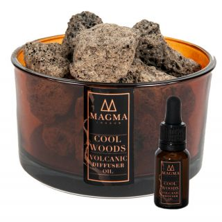 Magma Rocks Volcanic Diffuser Home Scented Gift Set Cool Woods