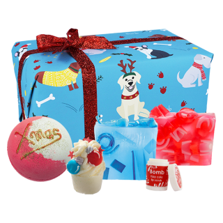 Bomb Cosmetics Bath Blasters Christmas Handmade Fragranced Gift Pack Santa Paws
