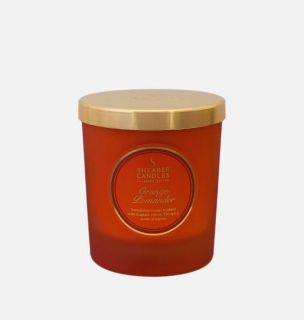 Shearer Candle Medium Scented Christmas Candle Candle Jar with Lid Orange Pomander
