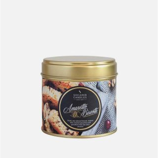 Shearer Candle Scented Tin  Christmas Candle Amaretto Biscotti