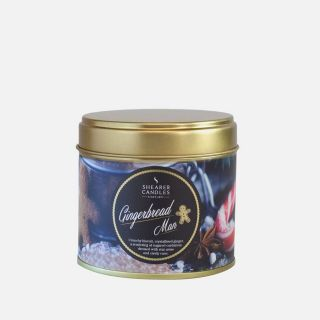 Shearer Candle Scented Tin  Christmas Candle Gingerbread Man