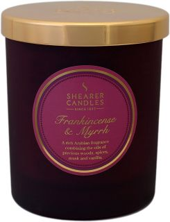 Shearer Candle Medium Scented Christmas Candle Candle Jar with Lid Frankincense & Myrrh