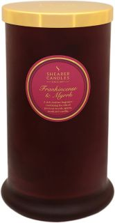 Shearer Candle Large Scented Christmas Pillar Jar with Lid Frankincense & Myrrh