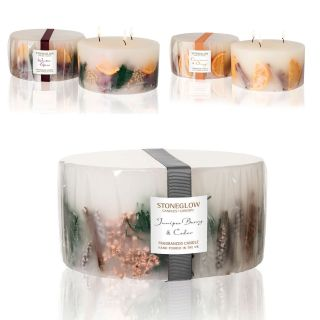 Stoneglow Candles Inclusion 3 Wick Large Pillar Candle