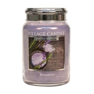 Village Candle 26oz Scented American Large Jar Candle with Double Wick Relaxation