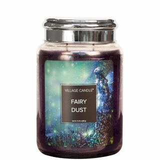 Village Candle 26oz Scented American Large Jar Candle with Double Wick Fairy Dust