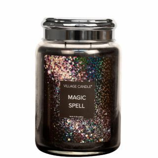 Village Candle 26oz Scented American Large Jar Candle with Double Wick Magic Spell