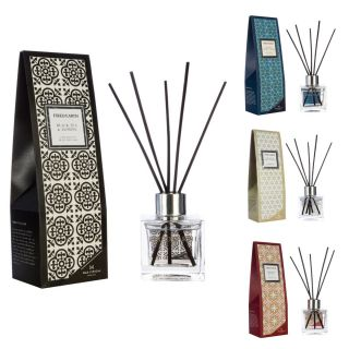Wax Lyrical Fired Earth 100ml Fragranced Reed Diffuser Clear Glass Square