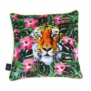 Ashleigh & Burwood Wild Things Luxury Duck Down Feather Cushion Crouching Tiger