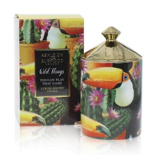 Ashleigh & Burwood Wild Things Luxury Scented Candle Toucan Play That Game - Mango & Nectarine