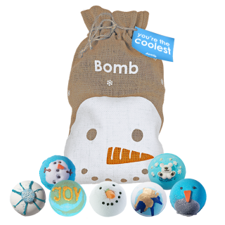 Bomb Cosmetics Your The Coolest Bath Blaster Hessian Christmas Gift Pack Set