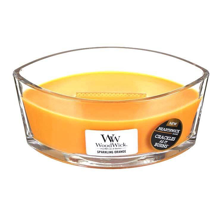 WoodWick-HearthWick-Jar-Glass-Oval-Boat-Candle-Crackle-Wood-Lid-Many-Fragrances